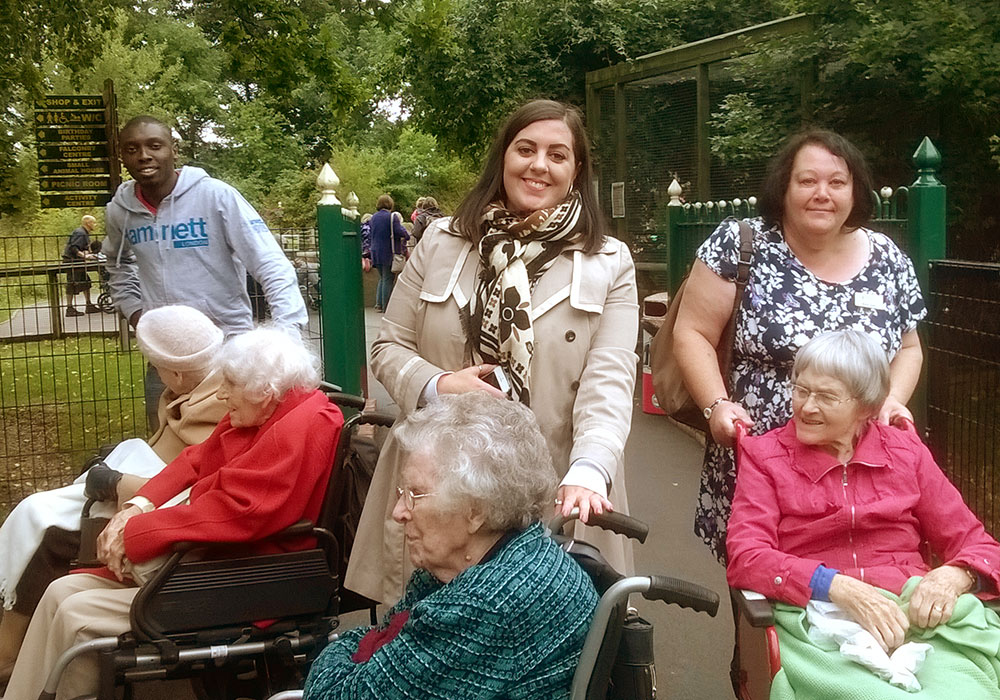 Residents enjoying a day out