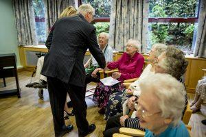 Duke of Gloucester meets Betty Richardson
